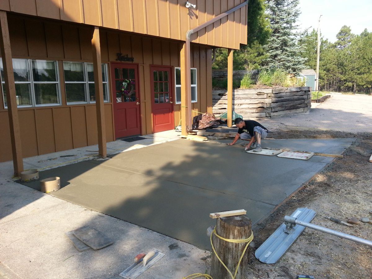 kitchen patio pour